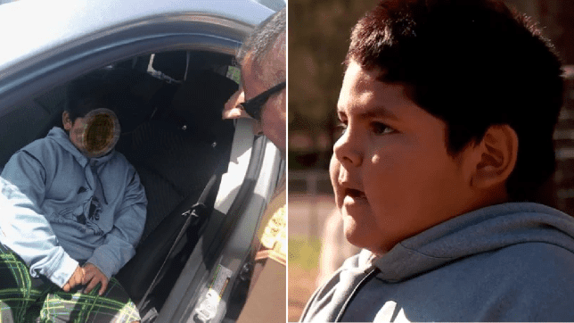 A five-year-old boy caught behind the wheel of his mother's car all by himself insisted that he was perfectly capable of driving solo.