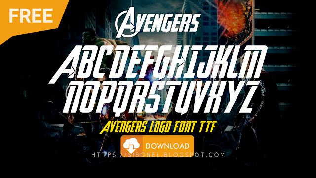 Font Logo Avengers TTF