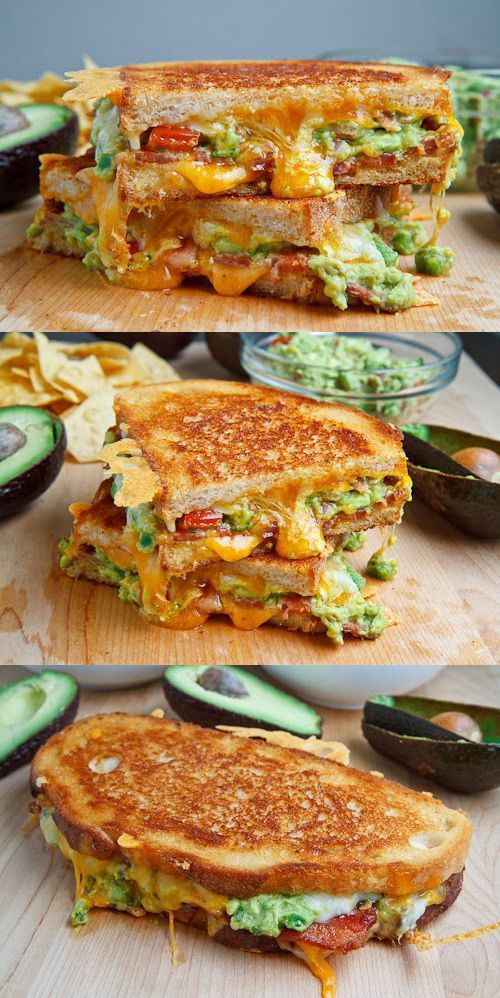 Best Bacon Guacamole Grilled Cheese Sandwich