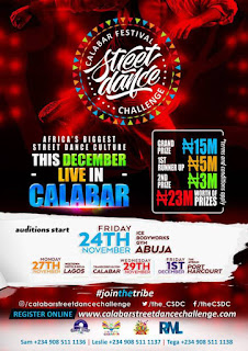 DANCE COMPETITION: Opportunity For All Dancers To Win 23 Million Naira At The Calabar Carnival Street Dance Challenge | @the_CSDC