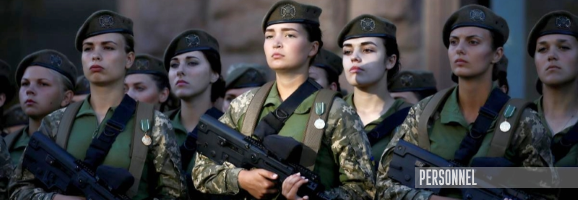 Almost 25,000 Ukrainian women are serving under contract in the army