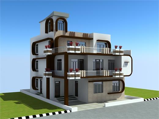 Moshi Pune Triplex House Design