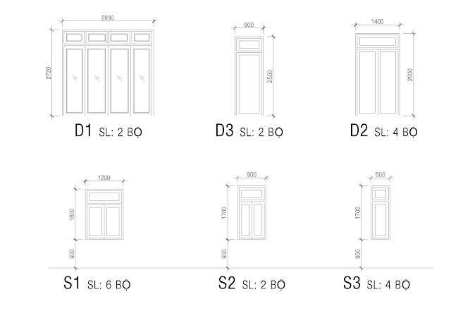 Bản vẽ cửa