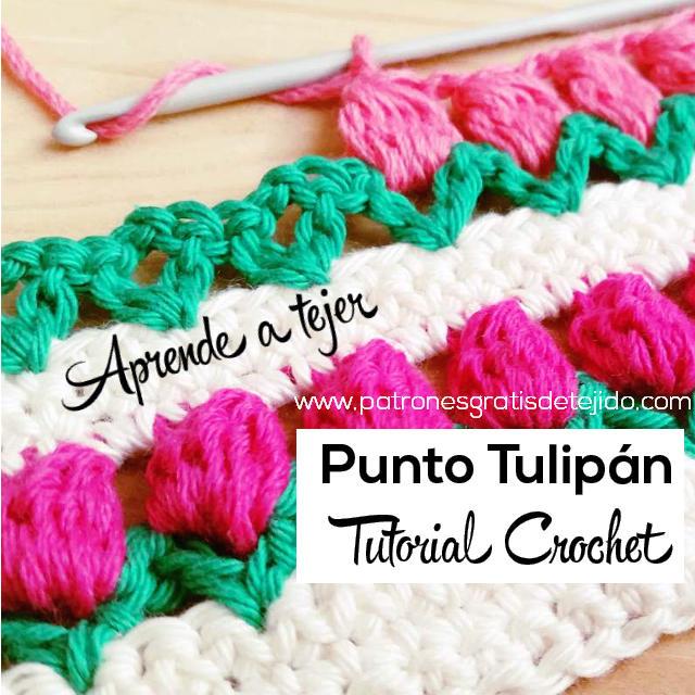 C mo tejer el punto tulip n al crochet tutorial en video - Mantas de ganchillo faciles ...