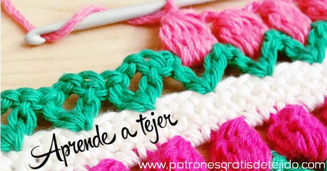 c mo tejer el punto tulip n al crochet tutorial en video