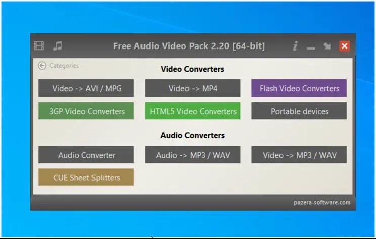 Free Audio Video Pack  :  Η καλύτερη δωρεάν συλλογή εφαρμογών για μετατροπή ήχου και βίντεο