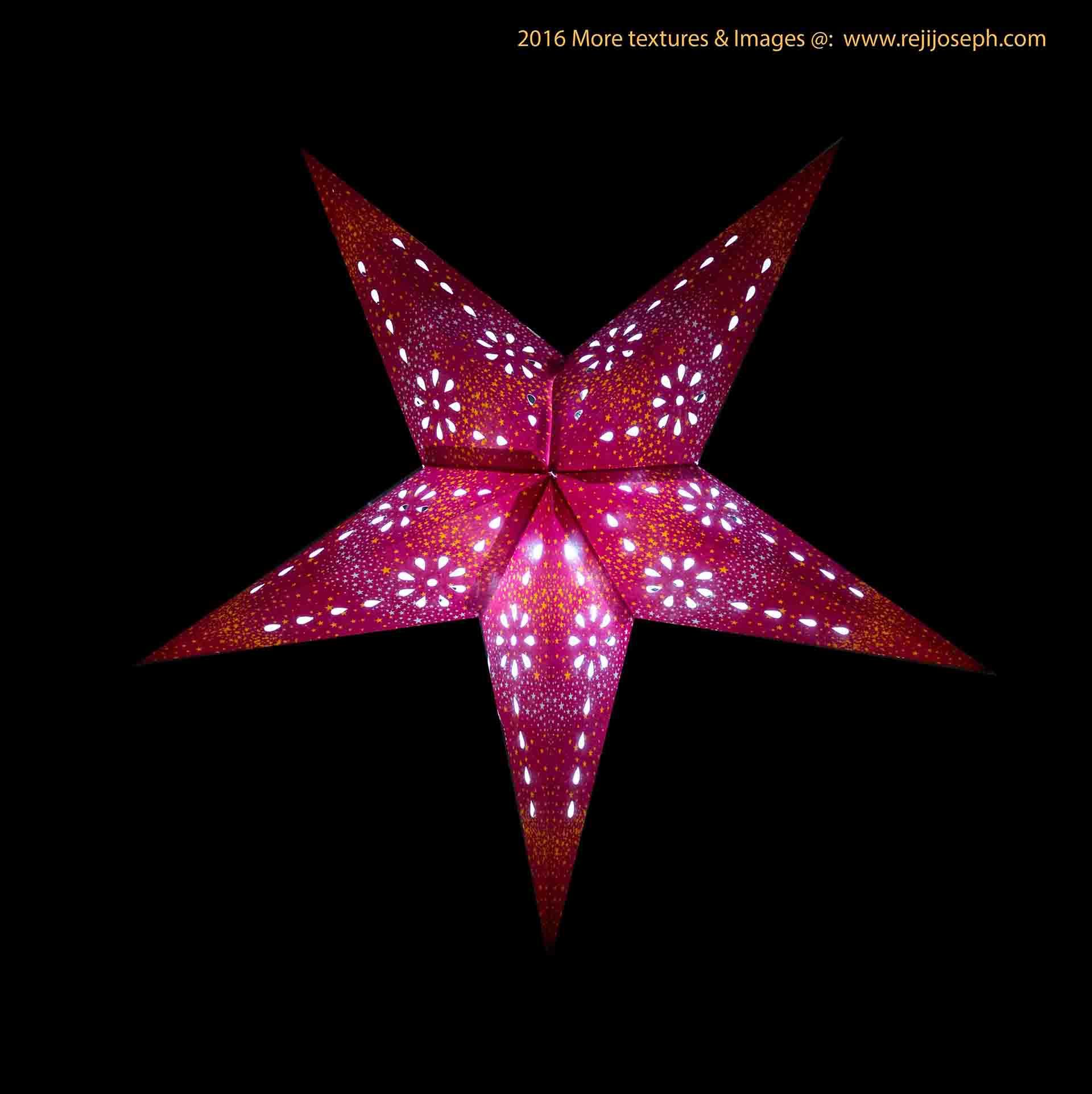 Christmas star Illumination light decoration 00007