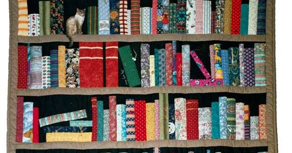 International Stashes Jamie S Bookcase Quilt August