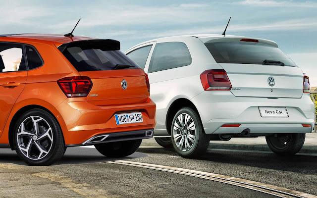 VW Polo x VW Gol - traseira
