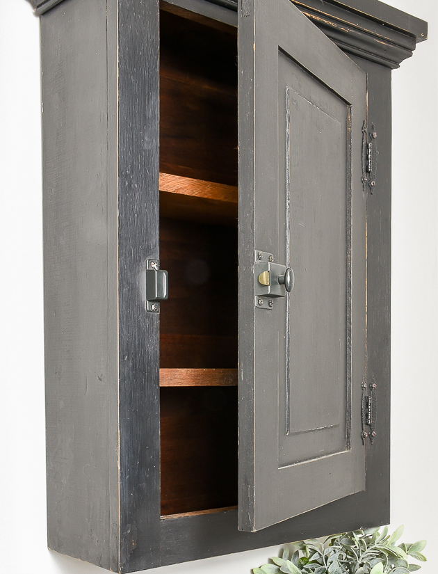 Black vintage medicine cabinet