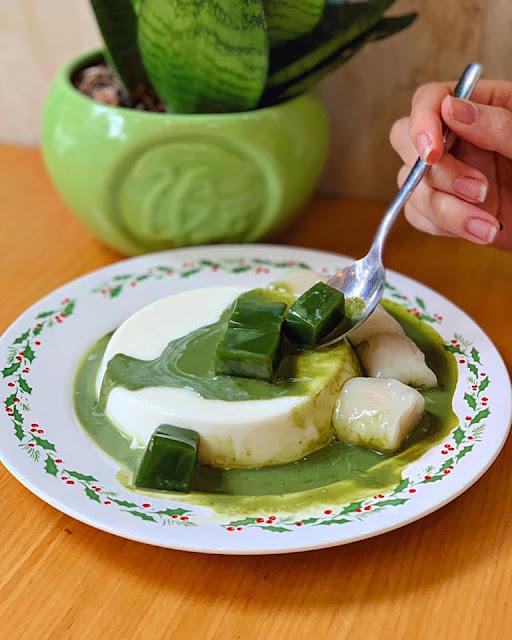 Panna cotta và bánh crepe tại Japanese Matcha  navivu.com