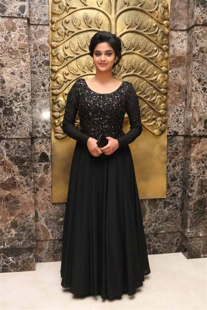Glamours Indian Actress Keerthy Suresh Hot Photos In Black Dress