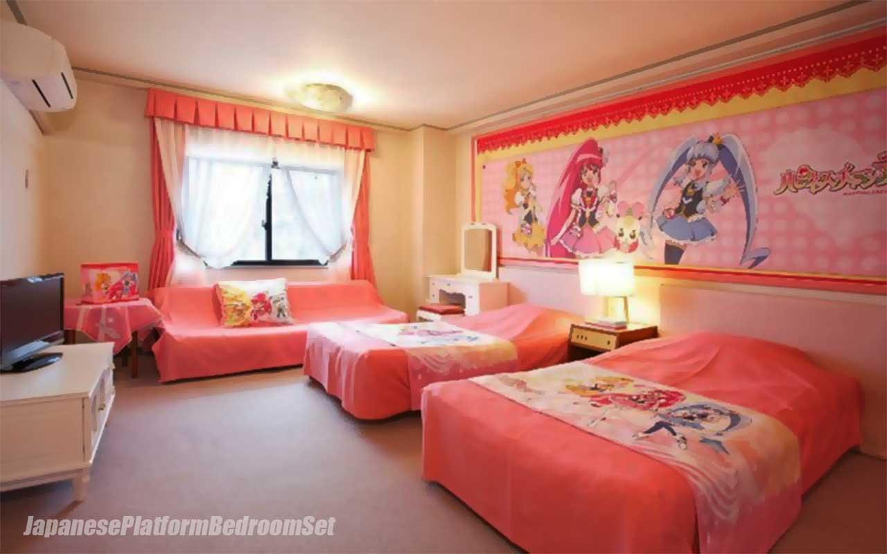 Anime Themed Bedroom Otaku Room Japanese Platform Bedroom Sets