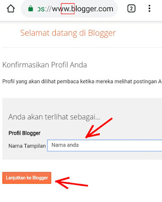 nama profil blogger untuk blog anda