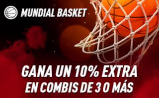 sportium MUNDIAL BALONCESTO 2019 : 10% Extra en triples o superior
