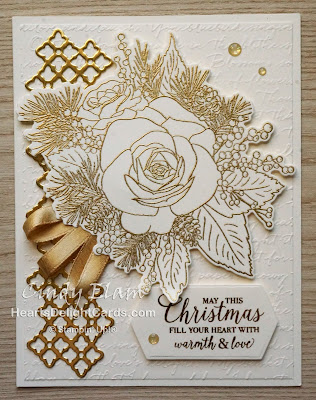 Heart's Delight Cards, Christmastime Is Here Suite, Christmas Rose, Roses Dies, Stampin' Up!