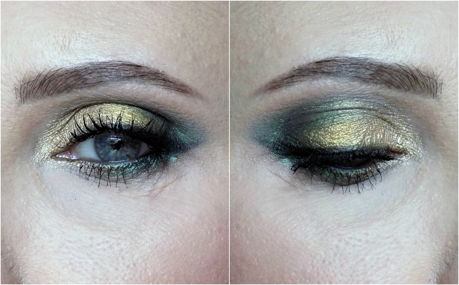Too Faced Chocolate Gold palette makeup look