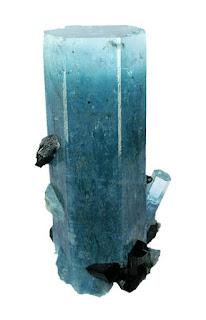 Aguamarina cristal hexagonal procedente de namibia