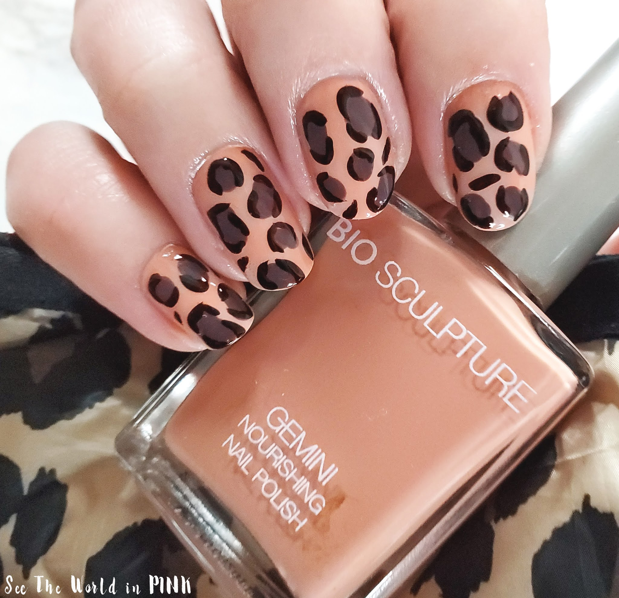 Manicure Monday Leopard Print Nail Art See The World In Pink