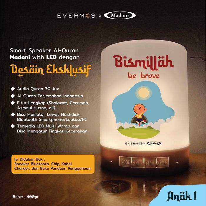 Jual & Harga Speaker Murottal Anak Terbaik Al Quran 30 Juz Lampu Tanjung Balai kisah Rasul atau juga sirah Nabawiyah, Qari nasheed, suara adzan