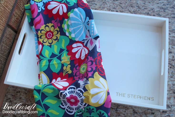 DIY Craft: Fabric High Gloss Resin Serving Tray