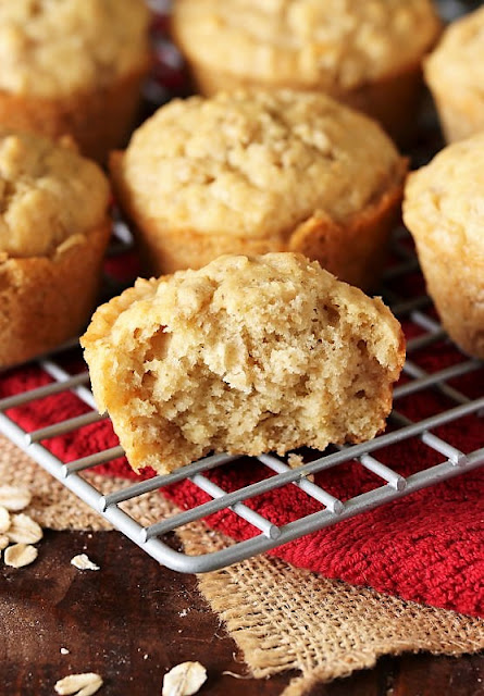 Inside Texture of Oatmeal Muffins Image