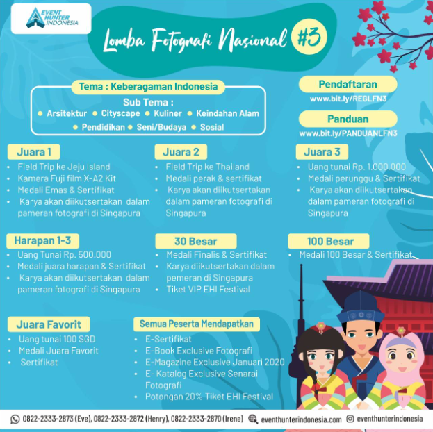 Lomba Fotografi Nasional #3 2020 di Event Hunter Indonesia