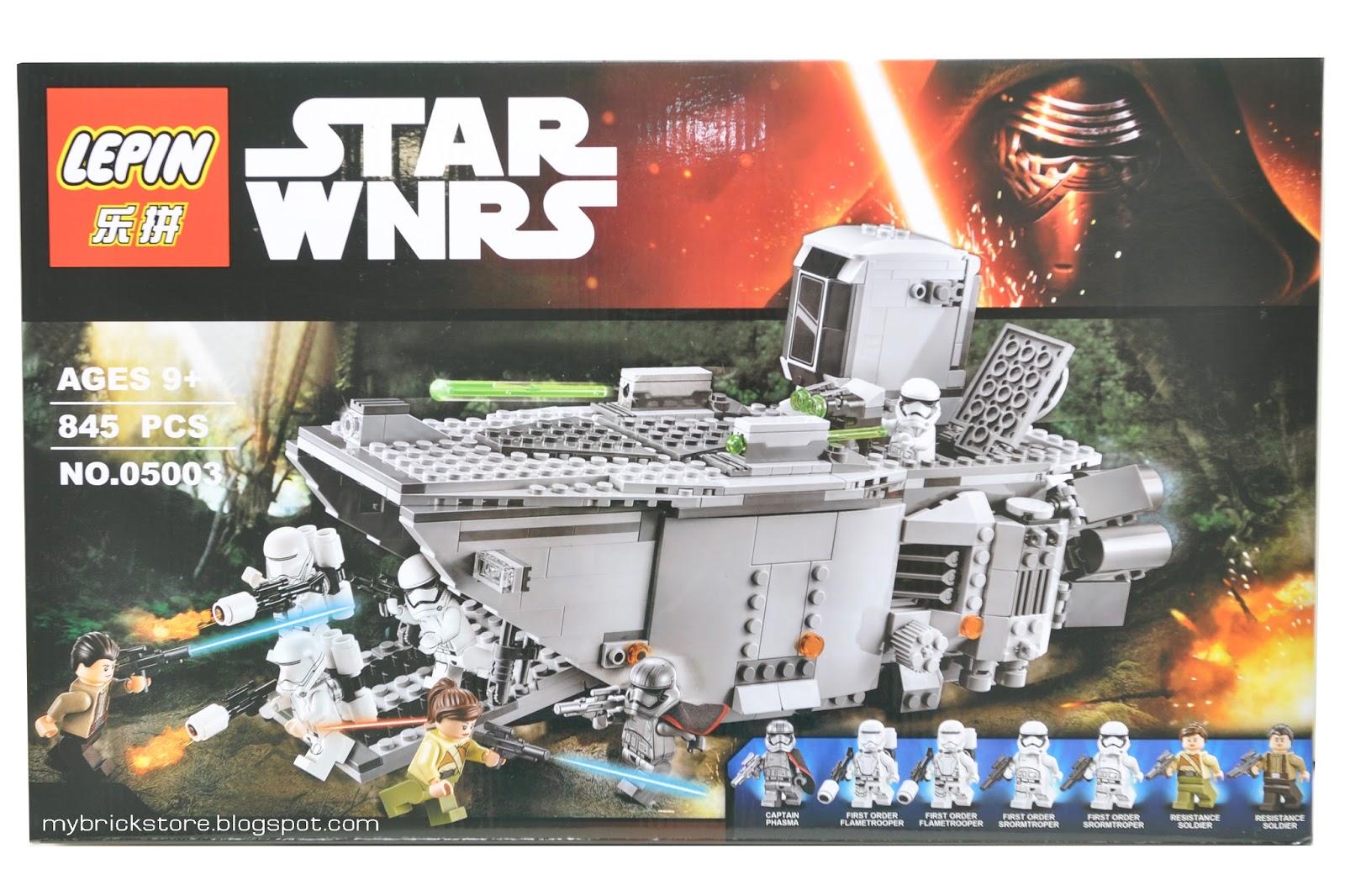 my brick store lepin 05003 lego star wars first order transporter. Black Bedroom Furniture Sets. Home Design Ideas