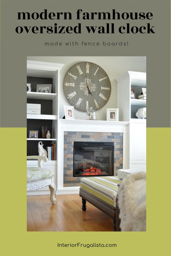 Modern Farmhouse Oversized Wall Clock