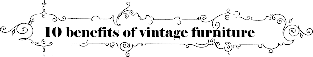 benefits of vintage furniture