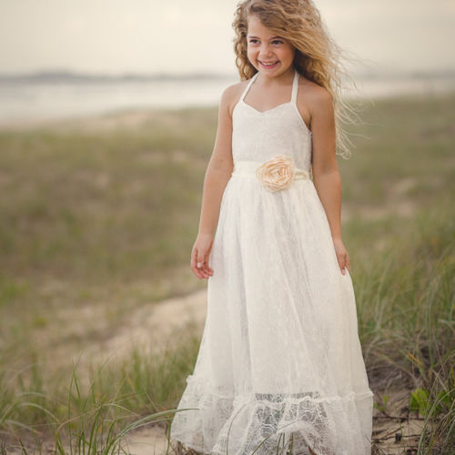 handmade boho flower girl dresses