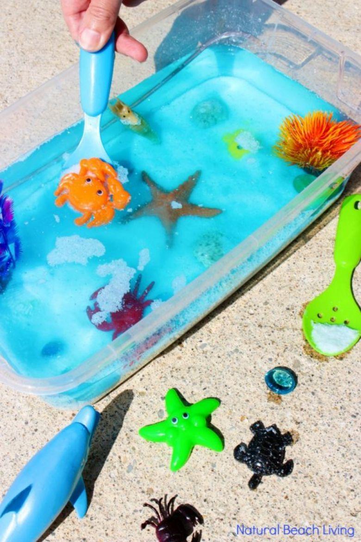 ocean sensory bin water activities for toddlers and preschoolers