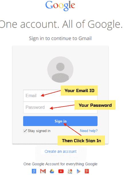 প্রথমে আপনার Browser ওপনে করে Email.com বা Gmail.com এ যান।