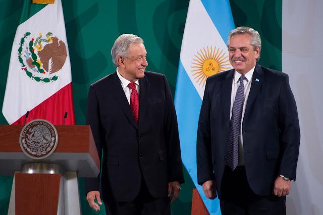 AMLO y Fernández se reúnen en Palacio Nacional