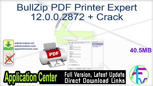 BullZip PDF Printer Expert 12.0.0.2872 + Crack