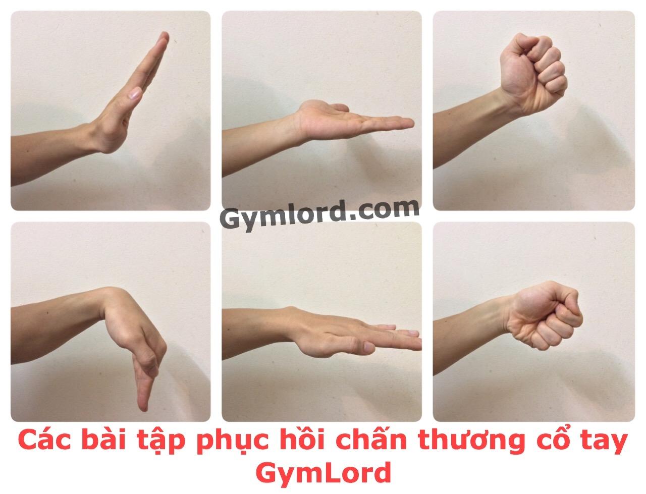Bài tập phục hồi chấn thương cổ tay 2