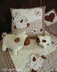 Sheep quilts - baby blanket and pillowcase