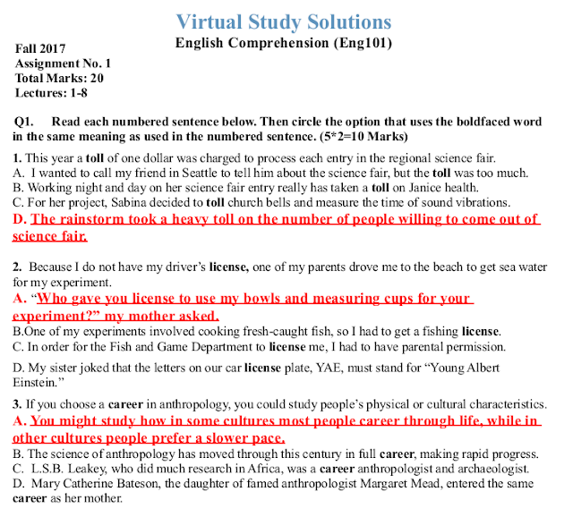 ENG101 Assignment Solution idea 1 Sample Preview: