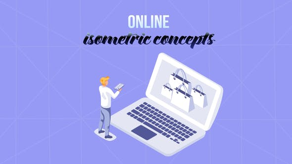 Online - Isometric Concept[Videohive][After Effects][29057284]
