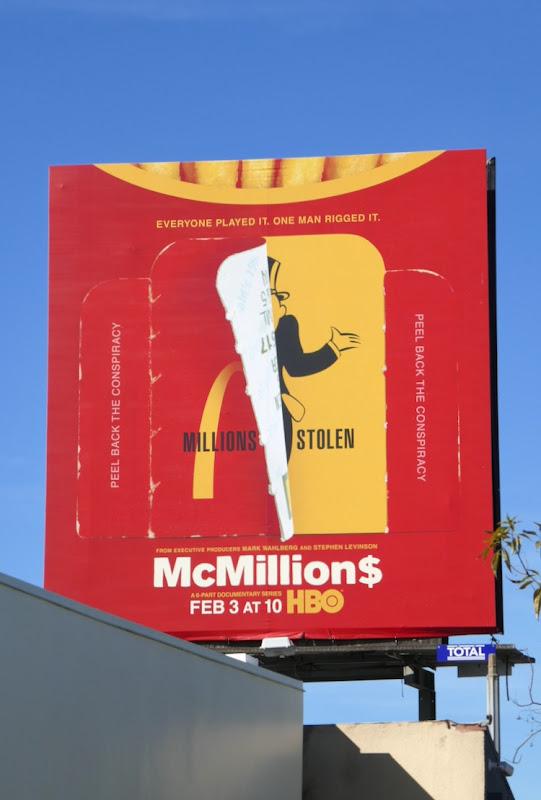 McMillions series launch billboard