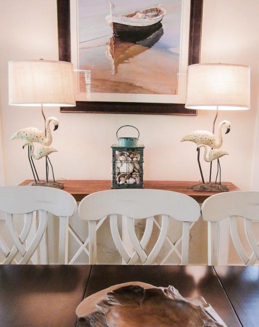 White Flamingo Novelty Table Lamps