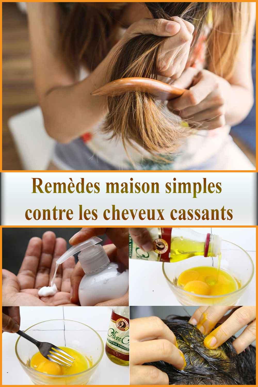 Remèdes maison simples contre les cheveux cassants