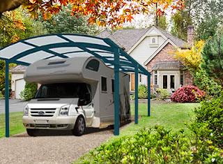 Garages camping car metal bois et pvc garage camping car ou carport - Abri camping car alu ...