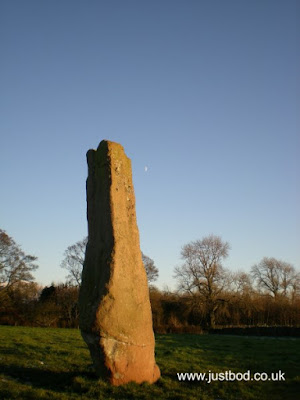 Long Meg and a half-moon