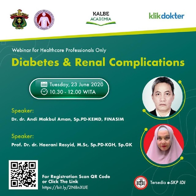 Free E-SKP IDI: Webinar Diabetes & renal Complication Tuesday, 23 June 2020 (10.30-12.00 WITA)