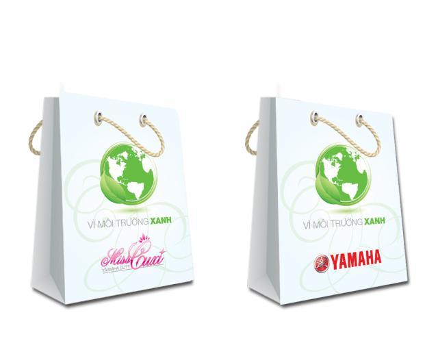In túi giấy giá rẻ tại Hà Nội, túi giấy kraft cao cấp mẫu mã đẹp Yamaha