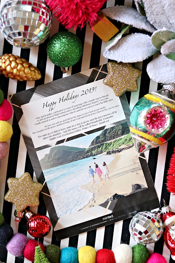 Minted holiday cards, custom Christmas photo cards