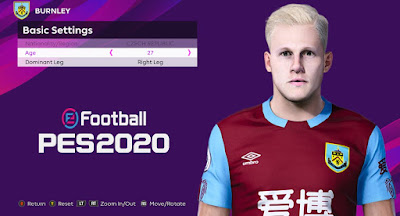 PES 2020 Faces Matěj Vydra by Rachmad ABs