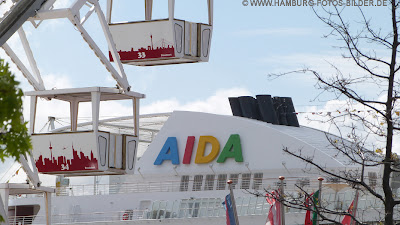 Hafengeburtstag Hamburg, Aida Luna, Kreuzfahrtschiff, Reisenrad, Gondel