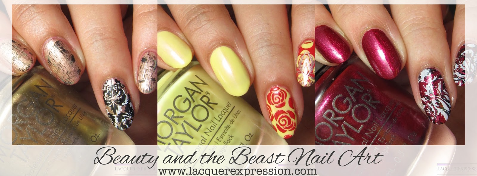 Nail Art - Stamped Designs Inspired by Beauty and the Beast ...